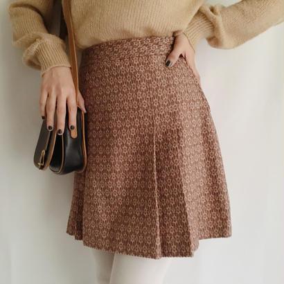 eurovintage pleats mini skirt