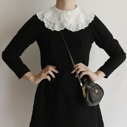 Euro Vintage Black Long Sleeve Mini Dress