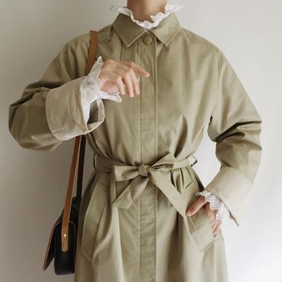 Euro Vintage Light Khaki Long Coat