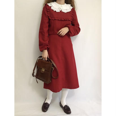 Euro Vintage Volume Sleeve Flare Dress