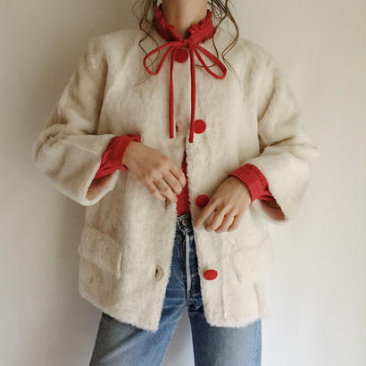 60's USA deadstock nocolor fake fur  jacket