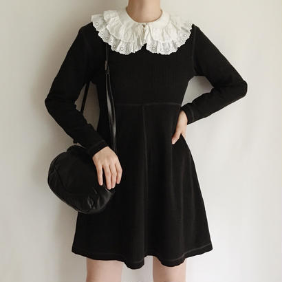 eurovintage Black cut and sewn mini dress