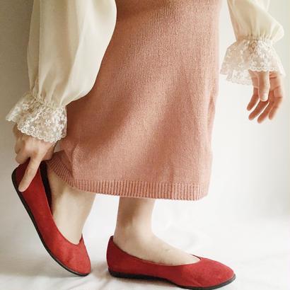Euro Vintage  Pink knit long skirt