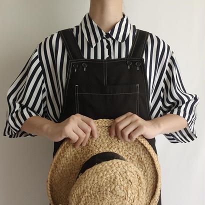 Euro Vintage Striped Long Shirt