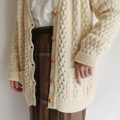 70's-80's Irish Cable Knit Cardigan