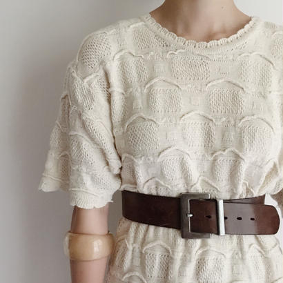 Euro Vintage Over Silhouette Summer Knit Tee