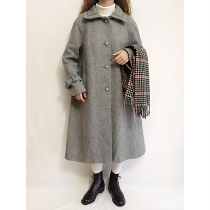70's U.K.Vintage Gray Aline Long Coat