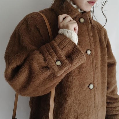 eurovintage brown A line coat
