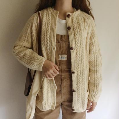 70's Irish Cable Knit Cardigan