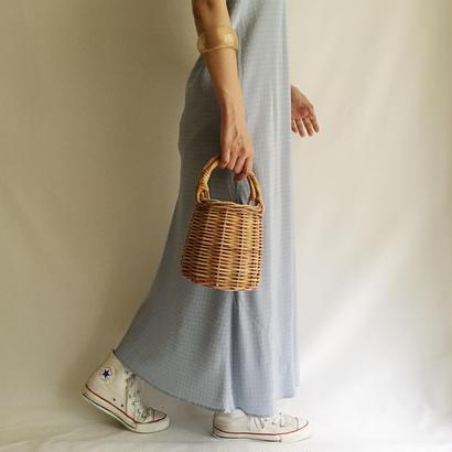 Euro  Vintage Dot Camisole Long Dress
