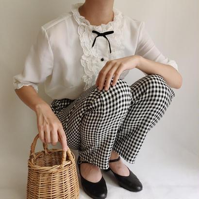 USA Vintage Ginghamcheck High Waist Pants