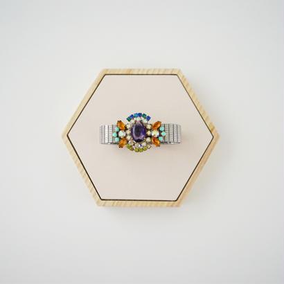 ヴィンテージチェコガラスブレスレット / ハンドメイドアクセサリー・ヴィンテージ アクセサリー・コスチュームジュエリー