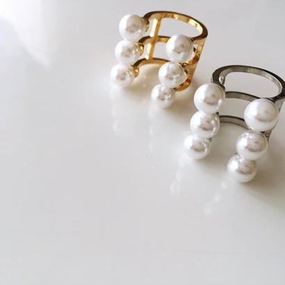 NEW  Imitation Pearl ring《ゴールド、シルバー》