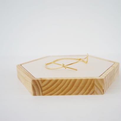 ゴールド結びブレスレット