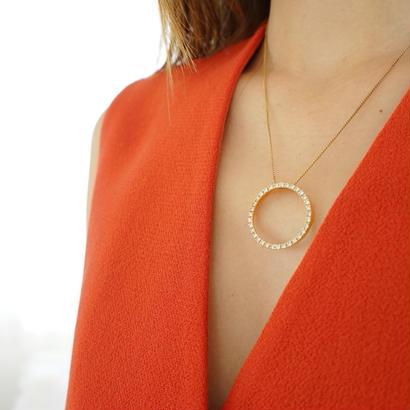 vintage   circle bijou necklace