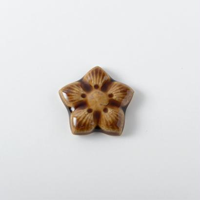 箸置き 飴釉 Lサイズ 桔梗