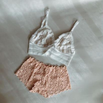 White and Smoky pink set