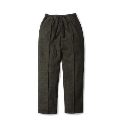 FUZZ HOUNDSTOOTH WOOL PANTS / BLACK,OLIVE ファズ ウールパンツ