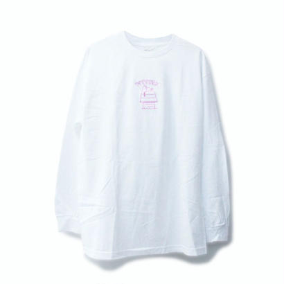 PITY SEX DROOPCITY LS TEE WHITE x PINK