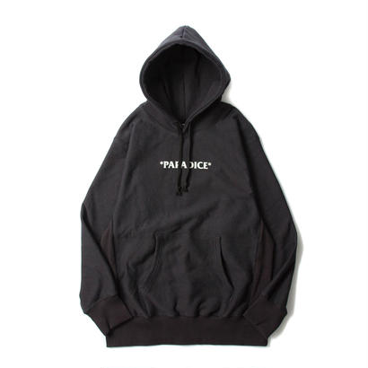 PARADICE LOGO REVERSE WEAVE HOODIE / CHARCOAL