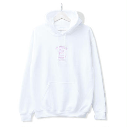PITY SEX DROOPCITY HOODIE White x Pink <Stockroom Exclusive>