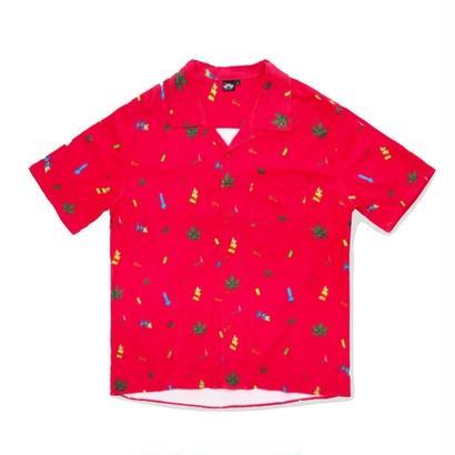 MIP STONED HAWAIIAN SHIRT <RED>