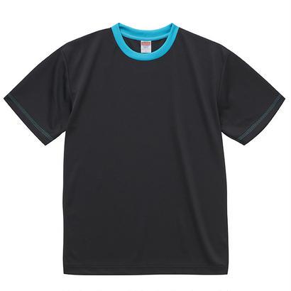 United Athle アスレチックTシャツ ブラック/ターコイズブルー