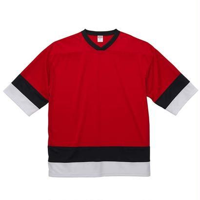 United Athle ホッケーTシャツ レッド/ブラック/ホワイト