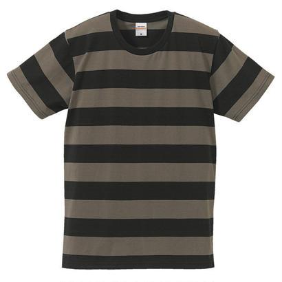 United Athle ボーダーTシャツ ブラック/チャコール