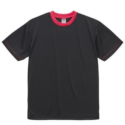 United Athle アスレチックTシャツ ブラック/トロピカルピンク
