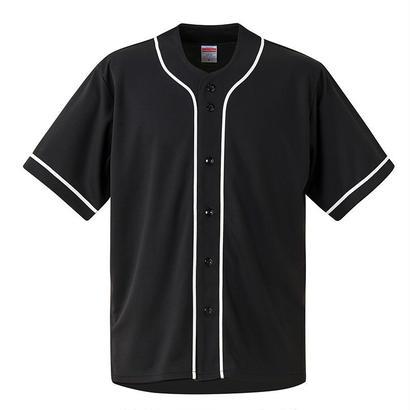 United Athle ベースボールシャツ ブラック/ホワイト