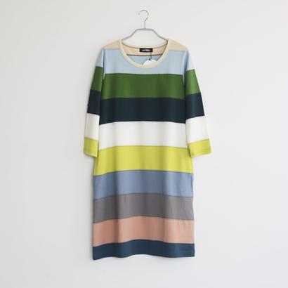 8分袖ワンピース / SIZE2 / col.GR×MULTI