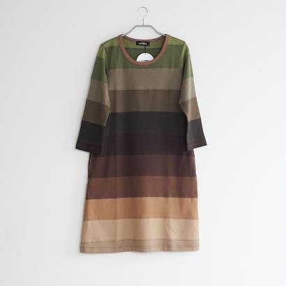 8分袖ワンピース / SIZE1 / col.BR×GRADATION