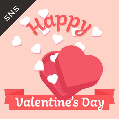 SNS素材|2サイズセット バレンタインデー [A]