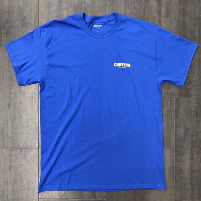 CHRYSTIE OG LOGO T-SHIRTS ROYAL-BLUE/YELLOW