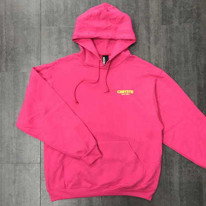 CHRYSTIE OG LOGO HOODIE HOT-PINK/YELLOW