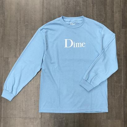 DIME CLASSIC LOGO LONG SLEEVE T-SHIRT BLUE