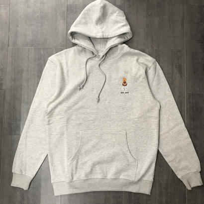 QUARTERSNACKS EMBROYDERED SNACKMAN HOODIE HEATHER GRAY