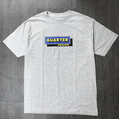 QUARTERSNACKS CAFE TEE HEATHER GRAY