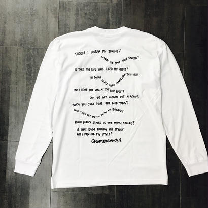 QUARTERSNACKS THOUGHT L/S TEE POCKET TEE WHITE