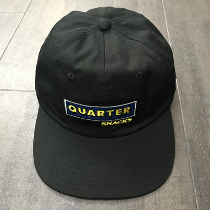 QUARTERSNACKS CAFE CAP BLACK