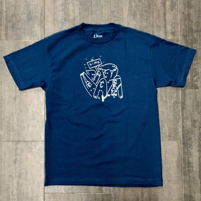 DIME KOOKS T-SHIRTS LIGHY NAVY