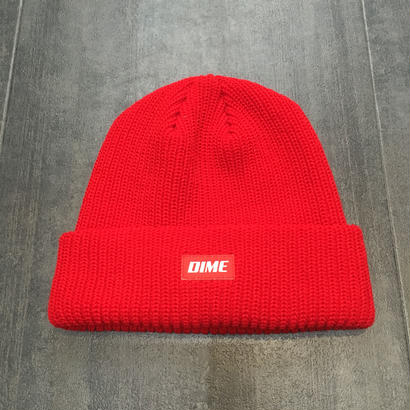 DIME HEAVY WEIGHT BEANIE RED