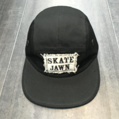 SKATEJAWN 5PANEL CAP BLACK