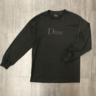 DIME CLASSIC LOGO LONG SLEEVE T-SHIRT BLACK