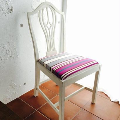 ルビーの椅子 ~1950's 英国アンティーク アンティークホワイト オーク ~