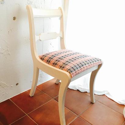 エミリーの椅子~1950's 英国アンティーク  アンティークホワイト  オークチェア