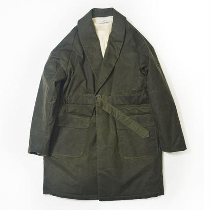 UNITUS(ユナイタス) FW17 Belted Shawl Coat Olive (Wax Cotton)【UTSFW17-J02】(N)