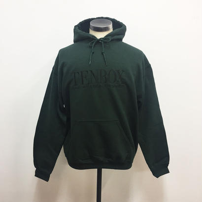 TENBOX×EAST4TH HOODED SWEAT FOREST GREEN