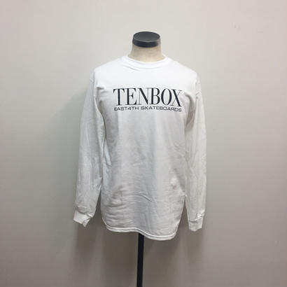 【PIGU HOUSE】【Kenzai.Depot】TENBOX×EAST4TH L/S TEE WHITE